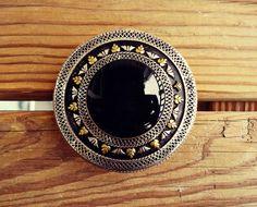 Silver Afghan Black Aqeeq ring Afghan tribal by ZamarutJewel, $89.00