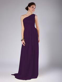 One Shoulder Column Dress