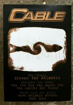 Cable - Freeze The Atlantic. Promo Flyer 1990s Music Memorabilia 1990s Music, Promo Flyer, Animal Attack, Freeze, Blues, Cable, My Love, Ebay, Cabo