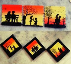 Craft Stick Crafts, Tapas, Things To Sell, Projects, Diy, Paintings, Beautiful, Sticks, Ice Cream