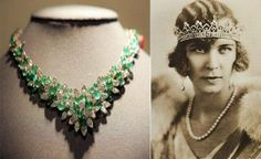 The emerald diamond necklace belonged to the last Queen of Italy: Queen Marie Jose. She was known for her amazing collection of her jewels and amid those awesome collection is this beautiful necklace. This necklace is adorned with numerous diamonds and filty emeralds, and is made by Van Cleef and Arpels.