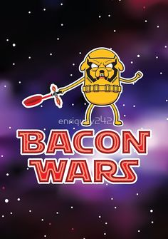Bacon wars - Jake by enriquev242  #starwars #stormtrooper #sith #laser #lightsaber #bacon #jake #jakethedog #adventuretime #geek #movie #darkside #movie #episodevii #nerd #cartoon #vector #vectorart #adobeillustrator #prints #poster #apparel #space #tshirt #case #kyloren #empire #firstorder