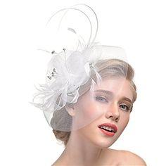 Blanc Mariage Chapeau Disc Fascinator Diamonte mère de la mariée