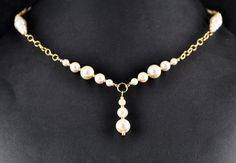 Pearls Perfect in Gold by DesignsByFloyd on Etsy