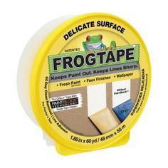 FrogTape Delicate Surface Painting Tape, in. x 60 yd. Roll, Yellow at Products Lists of Tools and Hardware - get crisp clean lines on your next painting project with frogtape delicate surface painters tape how does it work Tape Painting, Diy Painting, Block Painting, Painting Doors, House Painting, Duct Tape, Masking Tape, Home Depot, Hacks
