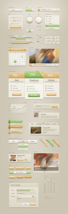 Web Elements - Vanilla Cream UI Kit   GraphicRiver