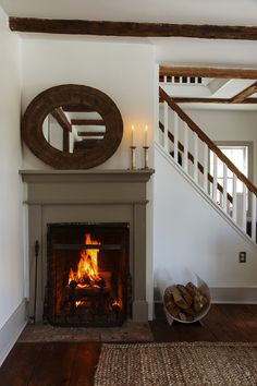 ldellfood-design:  cozy fireplace via the selby.