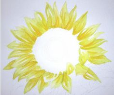 Paint a potted sunflower
