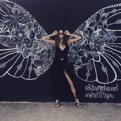Kelsey Montague ~ pic of supermodel @nictrunfio by @pamela_me) #whatliftsyou #sydneystreetart #bondibeach 2015