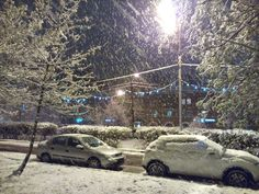 Снег во дворе. www.qfine.ru