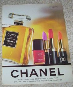 1988-print-ad-page-Chanel-Beauty-Cosmetics-Coco-perfume-clipping-vintage-ADVERT