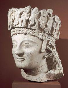 Colossal Female Head, possibly Aphrodite (Venus), Cyprus, 510-480B.C.