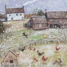 lucy grossmith Illustrations, Illustration Art, Mary Engelbreit, Wow Art, Winter Art, Naive Art, Whimsical Art, Christmas Art, Painting & Drawing