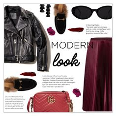 MODERN STYLE by ifip on Polyvore featuring polyvore fashion style AllSaints Ted Baker Gucci BaubleBar modern clothing