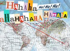 Como se ri na internet em outros países?