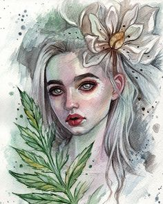 #art #illustration #fashion #watercolorpainting #watercolor #girl #portrait #blackfury