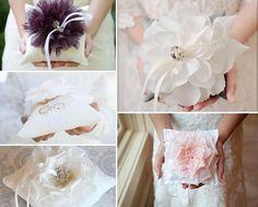2 ringkissen blumen lila ivory creme pink spitze1 Ringkissen mal anders und Ringkissen selber machen: