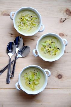 Creamy Celery Soup - perfect on a cold rainy day like today!