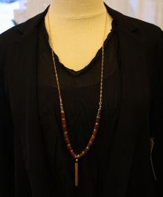 Jenny Bird: Wood Mantra Necklace  #retailtherapymi