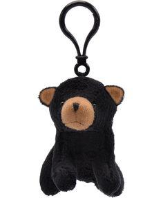 Black Bear Wildlife Plush Clip-On Stuffed Animal by Unipak