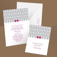 Modern Vintage Pink Silver White Ann's Bridal Bargains Invitations Save-the-Dates Thank-you notes Wedding Invitations Photos & Pictures - WeddingWire.com