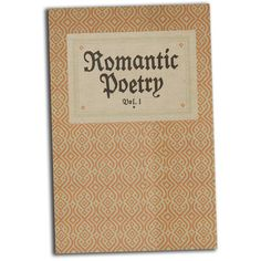 Romantic Poetry Book Journal Notebook Hardcover featuring polyvore, books, fillers, home, stuff and backgrounds