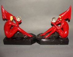 Lot: Figural Art Deco Bookends, Lot Number: 0058, Starting Bid: $150, Auctioneer: Tonya Cameron Auctions- TAC Auctions Inc, Auction: March Antiques Decorative Arts Collectibles, Date: March 16th, 2017 MDT