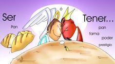 Share this on WhatsAppReflexiones para el I Domingo Cuaresma en PDF Share this on WhatsApp Catholic Lent, Religion Catolica, My Jesus, Bible Stories, Acting, Clip Art, School, Liliana, Arte Country