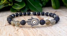 Hey, I found this really awesome Etsy listing at https://www.etsy.com/listing/203901574/protection-hamsa-hand-beaded-bracelet