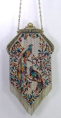 Large Antique 1920s Mandalian Enamel Mesh Fringe Purse Bag Peacock Bird Vintage Clutch, Vintage Purses, Vintage Bags, Vintage Handbags, Vintage Ladies, Vintage Outfits, Beaded Purses, Beaded Bags, Peacock Purse