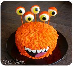 Orange Monster - Im Land von Candice - DIY Geburtstags Patisserie Cake, Decoration Patisserie, Halloween Cakes, Halloween Treats, Fondant Cakes, Cupcake Cakes, Cookie Monster Cakes, Cake Factory, Barbie Cake