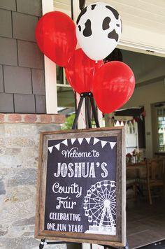 Rustic Barnyard County Fair First Birthday Party