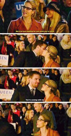 "#Arrow 4x09 ""Dark Waters"" - Oliver & Felicity"