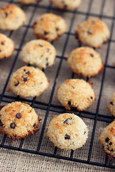 Chocolate Chip Coconut Macaroons – Gluten-free   Dairy-free