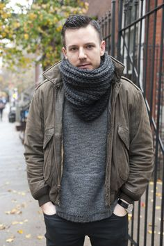 The Style Blogger   Chunky Hand Knit Neckwear featuring Yokoo Scarves