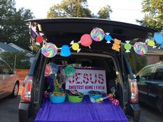 Fall Carnival Trunk or Treat - God's Work - Christian - Jesus - Sweetest Name I Know