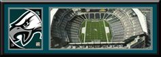Philadelphia Eagles Lincoln Financial Field Aerial View Large Stadium Poster With Team Logo