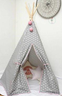 Kinderzimmer Deko selber machen gestalten zelt stoff