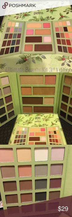 Pixi by Petra Ultimate Beauty Kit 3rd Edition. Brand new never used Ultimate Beauty Kit. Everything you could ever need for your face and eyes. Only forty eye shadow shades, two highlighters, four cheek powders, one bronzer, and one contour powder. That'll keep ya hands busy for awhile, lol. Pixi by Petra Makeup