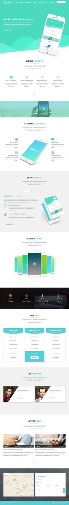 Mobiapp is Premium full Retina Responsive HTML5 Template. Bootstrap 3 Framework. #OnePage. If you like this #MobileAppTemplate visit our handpicked list of best HTML5 #OnePageWebsite Templates at: http://www.responsivemiracle.com/best-html5-one-page-website-templates/