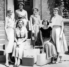 Western Michigan Sigma Kappa Sorority Sisters, Packed for Miami Beach, June 1954