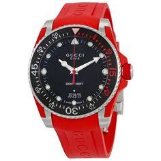 99117d5fad6 Gucci YA136309 Mens Dive Black Quartz Watch