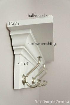 How to Build a Wall Shelf With Hooks