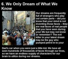 Interesting facts about dreams : theCHIVE