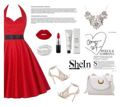 """""""shein 6 / 10"""" by mell-2405 ❤ liked on Polyvore featuring Baxter of California, Lime Crime and MAC Cosmetics"""