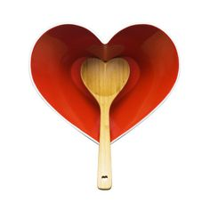 Heart Bowl and Bamboo Ladle   from dotandbo.com
