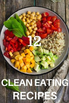 Check out this collection of 12 easy & quick clean eating recipes for dinner! Whether you're just beginning to eat clean for weight loss, or you're searching for healthy recipes for family dinner, or for two, you're guaranteed to find delicious clean eating recipes that are easy to prepare! From healthy chicken and fish dishes to clean eating beef and pork, there's something everyone will love in this collection of clean eating meals! #cleaneating #cleaneatingrecipes #eatclean