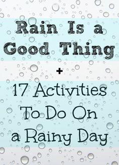 17 Activities to do on a RAINY DAY! // via Momista Beginnings
