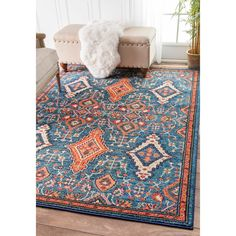 Soft and plush, the pile on this contemporary area rug is made from 100% polypropylene to prevent shedding, and will tie together any fashionable space.  Add a sense of modern flair to any room with this attractive rug.
