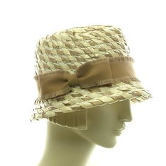 Hats for Women | ... White and Tan Straw Hat for Women - Vintage Style Fedora Hat on Etsy